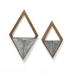Set of 2 Diamond Wall Planters