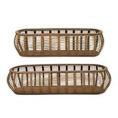 Stratton Home Decor Set of 2 Tulum Rattan Baskets