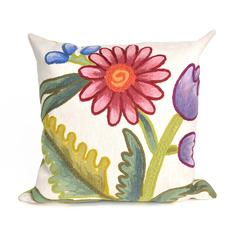 """Liora Manne Visions III Gypsy Flower Indoor/Outdoor Pillow Multi 20"""" Square"""