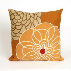 """Liora Manne Visions III Disco Indoor/Outdoor Pillow Orange 20"""" Square"""