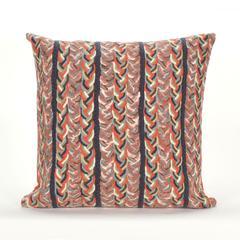 "Liora Manne Visions III Braided Stripe Indoor/Outdoor Pillow Orange 20"" Square"