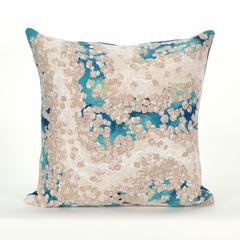 """Liora Manne Visions III Elements Indoor/Outdoor Pillow Blue 20"""" Square"""