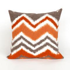 """Liora Manne Visions III Zigzag Ikat Indoor/Outdoor Pillow Orange 20"""" Square"""