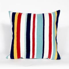 "Liora Manne Visions III Riviera Strp Indoor/Outdoor Pillow Multi 20"" Square"