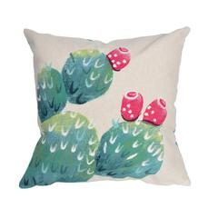 """Liora Manne Visions III Cactus Pear Indoor/Outdoor Pillow Ivory 20"""" Square"""