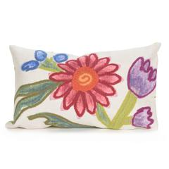 """Liora Manne Visions III Gypsy Flower Indoor/Outdoor Pillow Multi 12""""X20"""""""