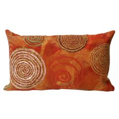 """Liora Manne Visions III Graffiti Swirl Indoor/Outdoor Pillow Red 12""""X20"""""""