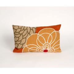 """Liora Manne Visions III Disco Indoor/Outdoor Pillow Orange 12""""X20"""""""