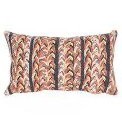 """Liora Manne Visions III Braided Stripe Indoor/Outdoor Pillow Orange 12""""X20"""""""