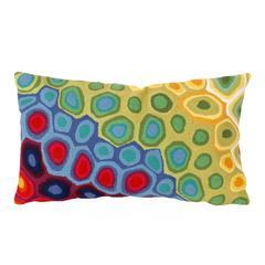 """Liora Manne Visions III Pop Swirl Indoor/Outdoor Pillow Red 12""""X20"""""""