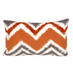 """Liora Manne Visions III Zigzag Ikat Indoor/Outdoor Pillow Orange 12""""X20"""""""