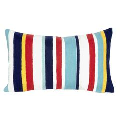 "Liora Manne Visions III Riviera Strp Indoor/Outdoor Pillow Multi 12""X20"""