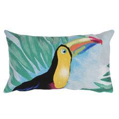 """Liora Manne Visions III Toucan Indoor/Outdoor Pillow Blue 12""""X20"""""""