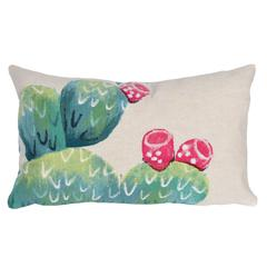 """Liora Manne Visions III Cactus Pear Indoor/Outdoor Pillow Ivory 12""""X20"""""""