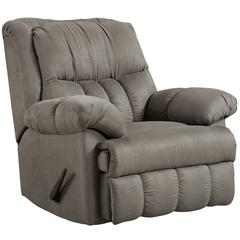 Exceptional Designs by Flash Sensations Grey Microfiber Rocker Recliner