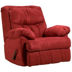 Exceptional Designs by Flash Sensations Red Brick Microfiber Rocker Recliner