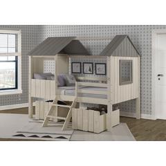 Full House Low Loft W/Dual Loft Drawers
