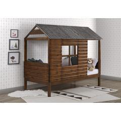 Twin Log Cabin Low Loft