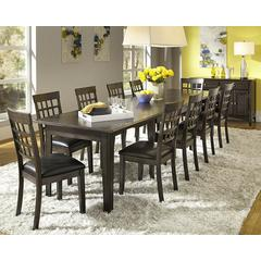 "Bristol Point 61"" - 132"" Rectangular Dining Table with (3) 24"" Leaves, Warm Grey Finish"