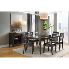 "Bristol Point 60"" - 78"" Rectangular Dining Table with 18"" Butterfly Leaf, Warm Grey Finish"