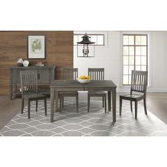 "Huron 56"" - 72"" Leg Table with (1) 16"" Leaf - Distressed Grey Finish"