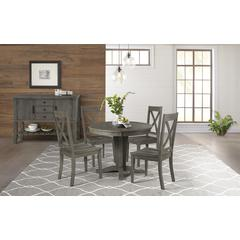 "Huron 42"" - 60"" Table Top with (1) 18"" Leaf - Distressed Grey Finish"