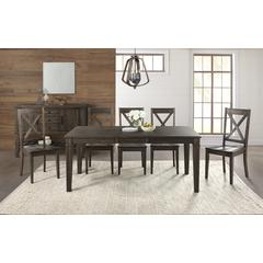 """Huron 56"""" - 72"""" Leg Table with (1) 16"""" Leaf - Weathered Russet Finish"""