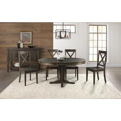 """Huron 42"""" - 60"""" Table Top with (1) 18"""" Leaf - Weathered Russet Finish"""