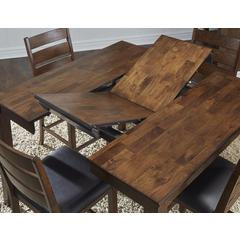 "Mason 54"" Square Gather Height Dining Table, with (1) 18"" Butterfly Leaf"