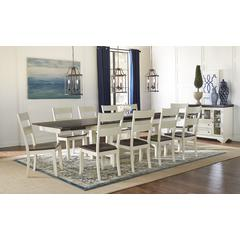"""Mariposa 132"""" Trestle Table, with (3) 18"""" Butterfly Leaves, Cocoa-Chalk Finish"""
