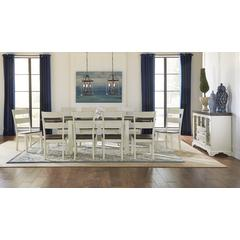 """Mariposa 100"""" Dining Height Leg Table, with (2) 18"""" Butterfly Leaves, Cocoa-Chalk Finish"""