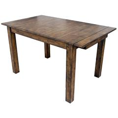 """Mariposa 100"""" Dining Height Leg Table, with (2) 18"""" Butterfly Leaves, Rustic Whiskey Finish"""