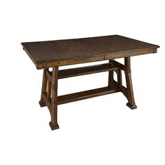 "Ozark 86"" Gathering Height Trestle Table, with 20"" Butterfly Leaf"