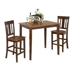 Kura Espresso/Canyon Gold Counter Height Table