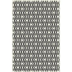 Ring of European Design - Size Rug: 4ft x 6ft black & white color with a weather aged finish