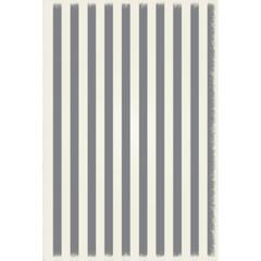 Strips of European Design - Size Rug: 4ft x 6ft grey & white colors with a weather aged finish