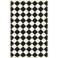 Diamond European Design - Size Rug: 5ft x 7ft black & white colors with a weather aged finish