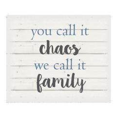 "Wall Signage - You call it chao's we cal it family - White background 10"" x 12"""