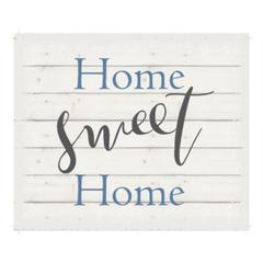 "Wall Signage - Home Sweet Home - White background 10"" x 12"""
