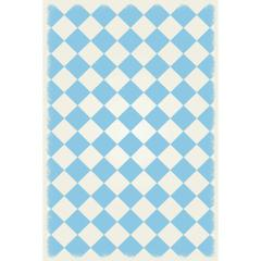 Diamond European Design - Size Rug: 4ft x 6ft light blue & white colors