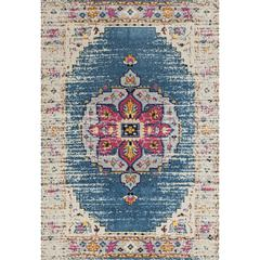 "Manhattan 15 Turqouise Power-Loomed Area Rug 5'3""x7'6"""