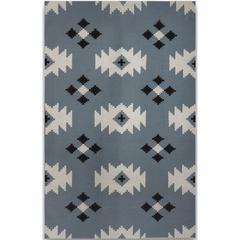 Zara 17 Blue Flat-Weave Area Rug 2'x3'