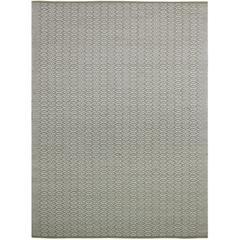 Zola 7 White Flat-Weave Area Rug 2'x3'