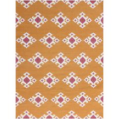 Zara 20 Orange Flat-Weave Area Rug 5'x8'
