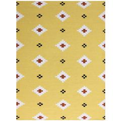 Zara 23 Yellow Flat-Weave Area Rug 5'x8'