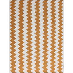 Zara 21 Orange Flat-Weave Area Rug 2'x3'
