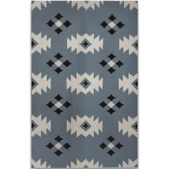 Zara 17 Blue Flat-Weave Area Rug 8'x10'