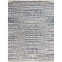 Zola 5 Sky Blue Flat-Weave Area Rug 5'x8'
