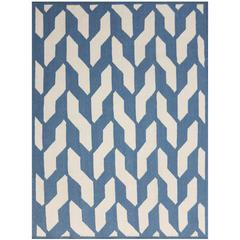 Zara 25 Blue Flat-Weave Area Rug 5'x8'