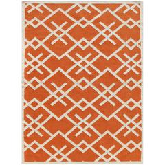 Zara 57 Orange Flat-Weave Area Rug 3'x5'